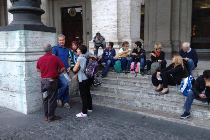 manifestazione Roma settembre 2012