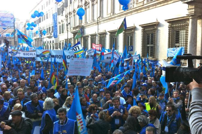 Sciopero UIL pubblico impiego Roma 28 ott 2011